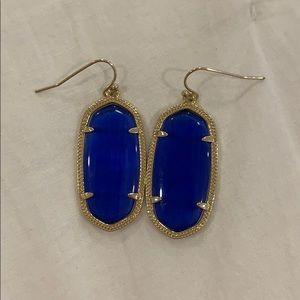 Kendra Scott cobalt blue Elle drop earrings